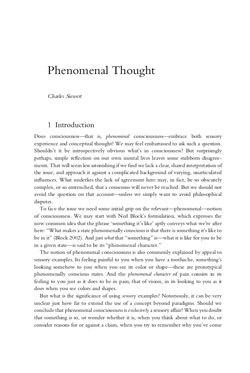 06. Phenomenal Thought